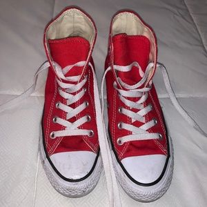 Converse Red High Tops - Size 6 Women's